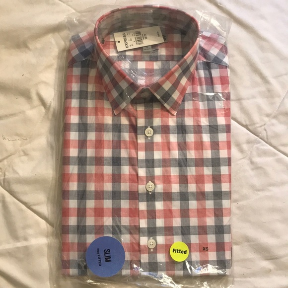 Express Other - Express Mens Slim Fitted Casual Shirt - Size XS